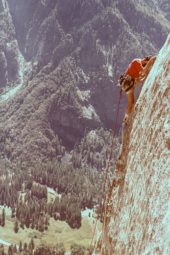 Richard (me) leading pitch 3, Lost Arrow Spire | by Richard-