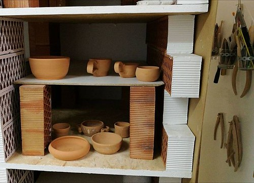 Big news everyone! Since yesterday I have became #independent #ceramic #artist. Nothing too fancy but I got my own shelf!!! After 13 years of programming, and IT related stuff I'm finally doing what I was always destined to do, making pottery! 😂😂   by woss