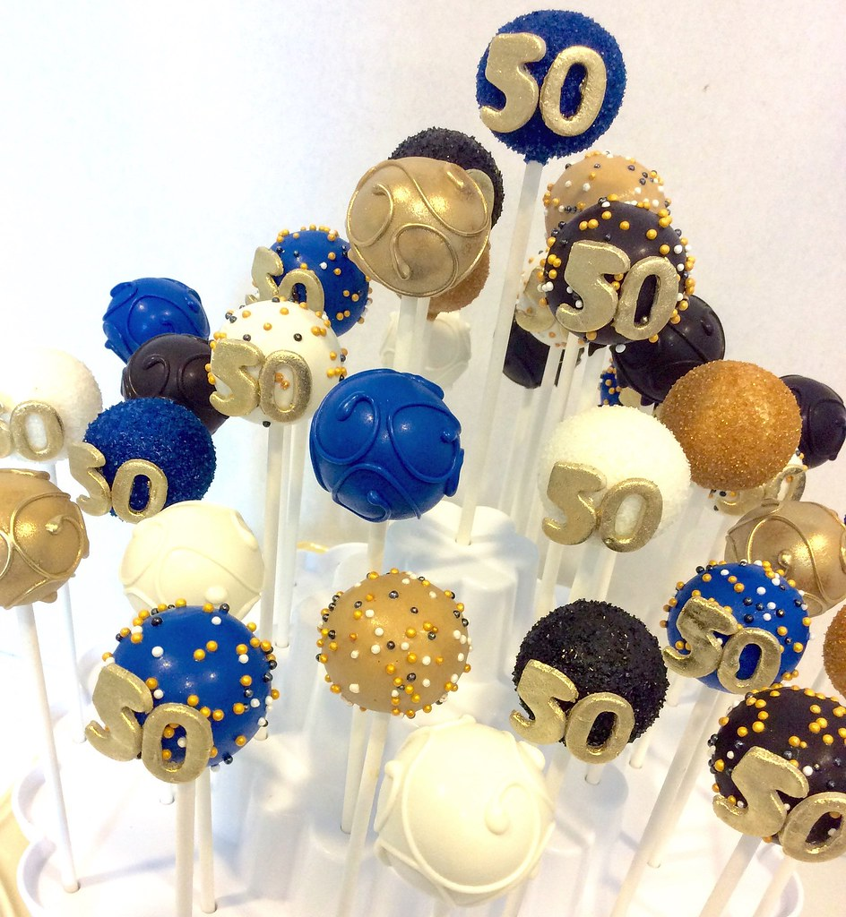 Miraculous 50Th Birthday Cake Pops Kimberly Lloyd Flickr Funny Birthday Cards Online Fluifree Goldxyz