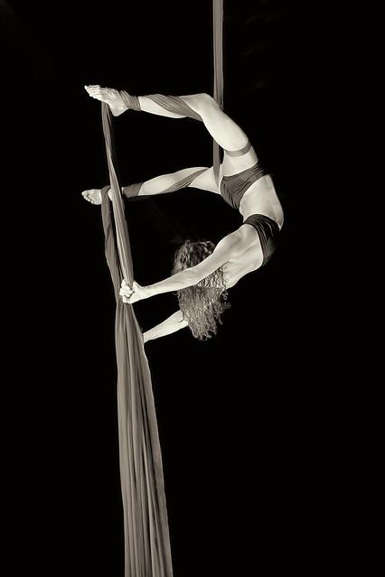 Aerial acrobatics...