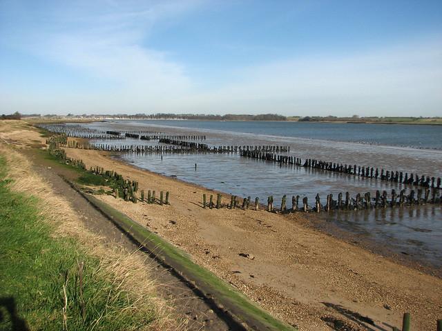 The River Orwell near Shotley Gate