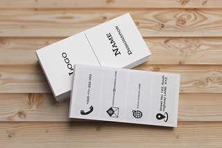 White Classical Business Cards