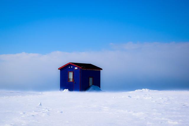 Pêche sur la glace, Rimouski