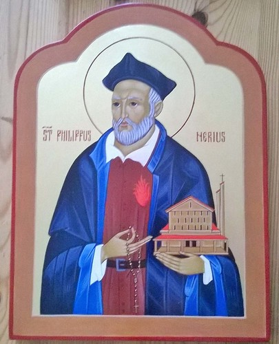2017 - Icône de saint Philippe de Néri / saint Philip Neri Icon. Main de - Hand of : Virginie Desjardins | by Périchorèse-iconographie