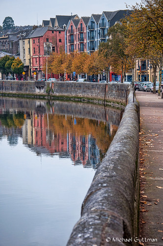 cork ireland riverlee reflections river city water wall buildings trees sky reflection colorful nikond90