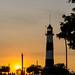 Get dark at lighthouse