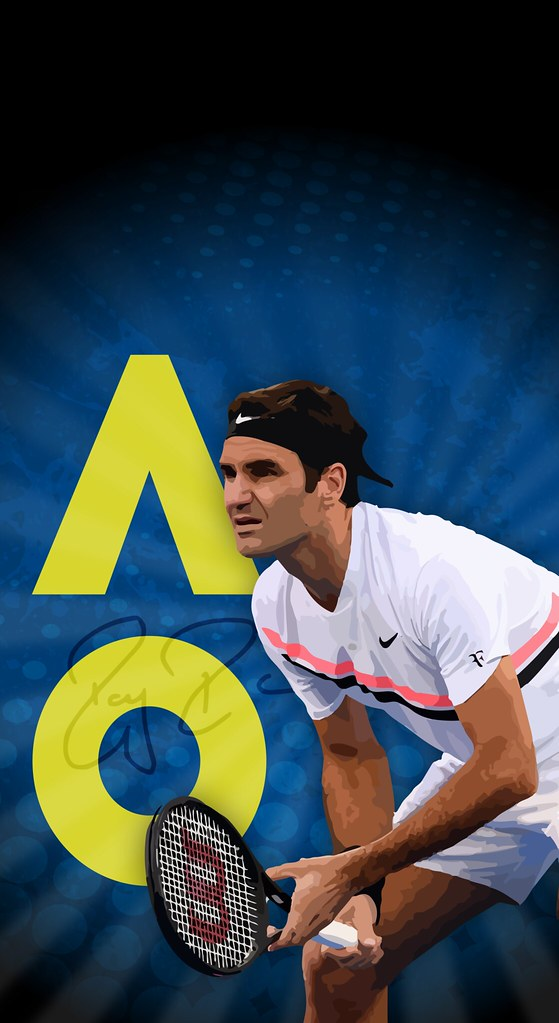 Roger Federer Ao 2018 Iphone X Wallpaper A Photo On Flickriver