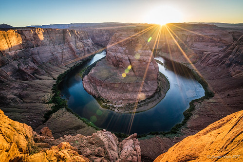 2017 arizona coloradoriver glencanyonnationalrecreationarea horseshoebend northamerica page sonya7r usa sunset travel us unitedstates sun sunrays