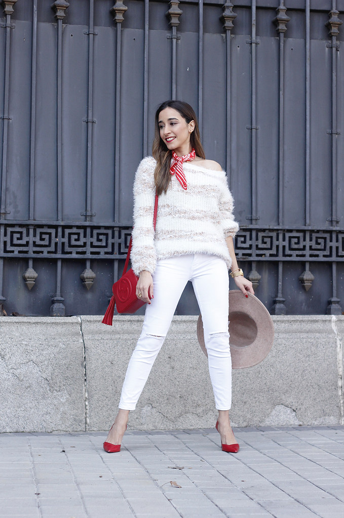 d69df67e9574 ... white outfit touch of red gucci bag primark hat winter outfit 201801 |  by BeSugarandSpice