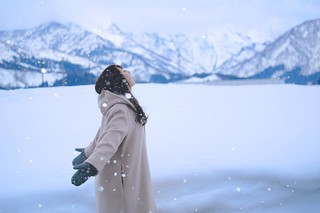 Young woman at snow field | by joka2000