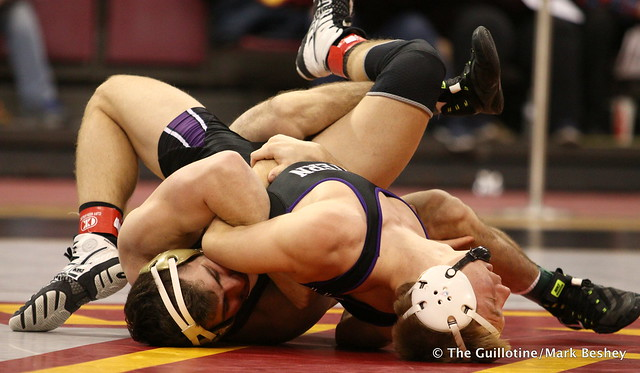 157: No. 18 Jake Short (Minnesota) maj. dec. Shayne Oster (Northwestern) 18-6. 180128AMK0008