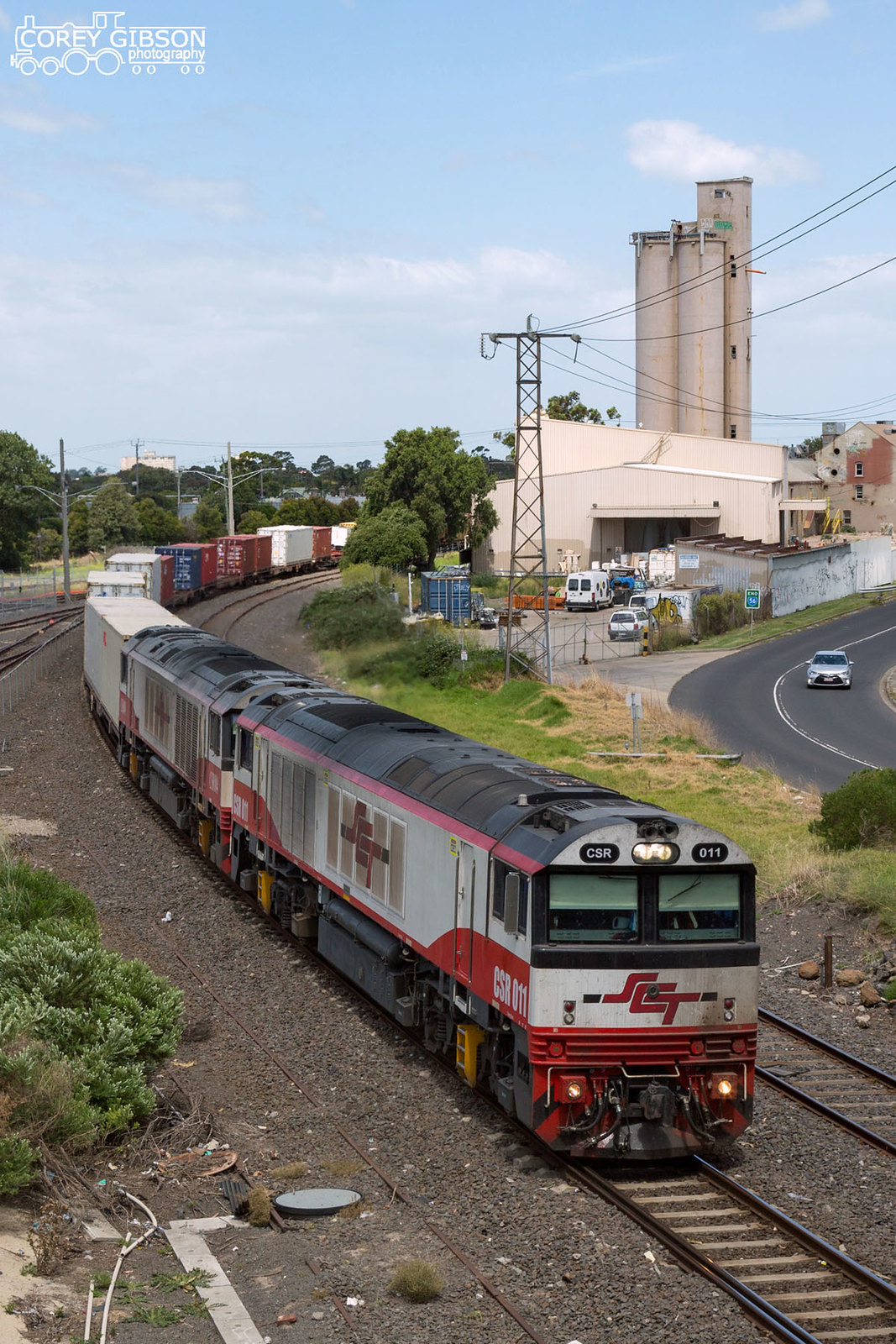 CSR011 & CSR004 with the up #7922V Dooen freight as it passes through Spotswood by Corey Gibson