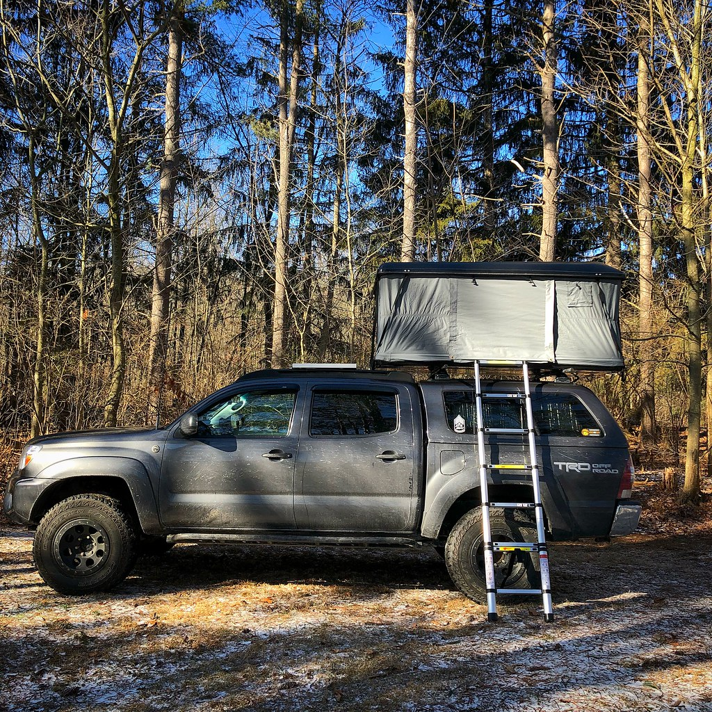 New hard shell roof top tent on the Tacoma   Jonathan Smith