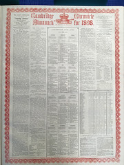 Cambridge Chronicle Almanack from 1898