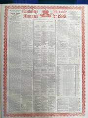 Cambridge Chronicle Almanack from 1898