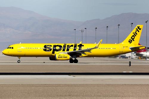 spirit spiritairlines nks nk airbus a321 airbusa321 sharklets aircraft airplane airport plane planespotting lasvegas klas las n672nk canon 7d 100400