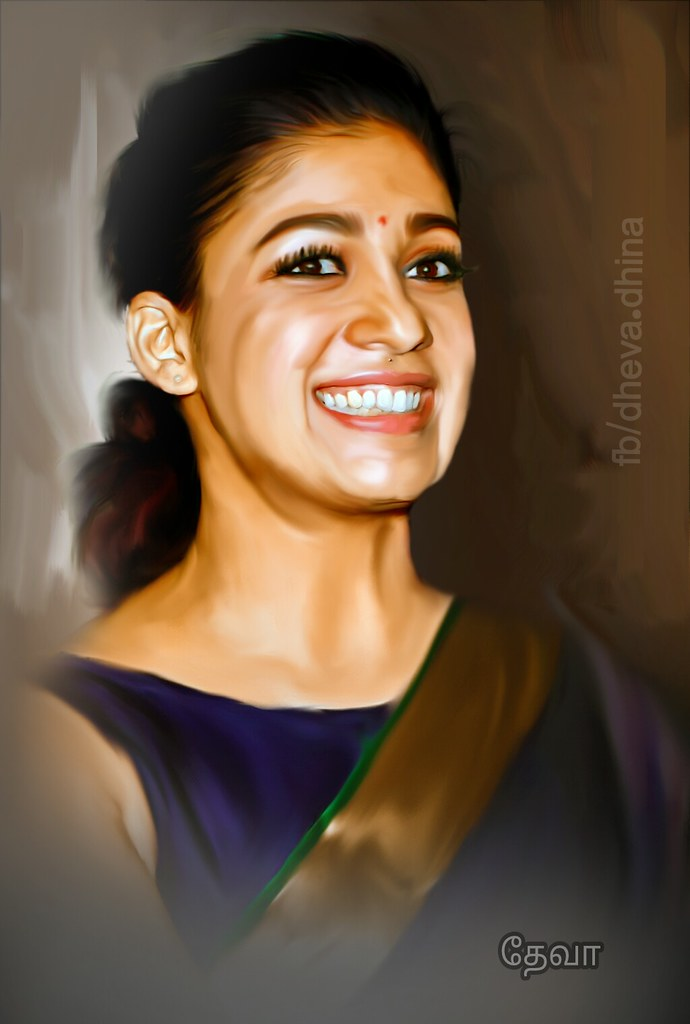 nayanthara digital painting#digitalpainting | nayanthara ...