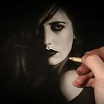 Dessin / Drawing - Work in progress - Eva Green - © Yannewvision - 2015