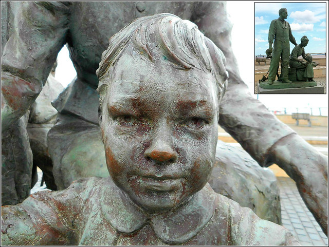 Girl from a Sculpture (Inset Photo)