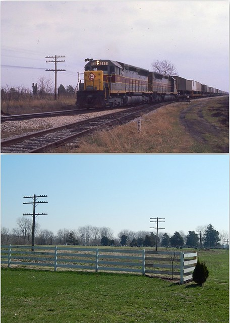 Erie Lackawanna before and after at Athens Indiana