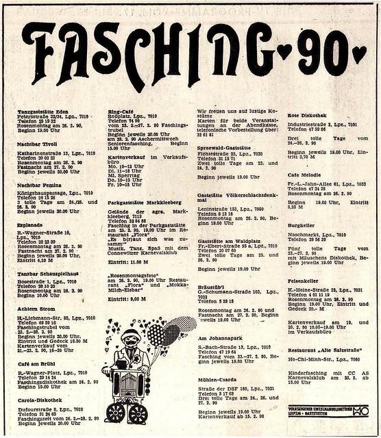 Werbung Februar 1990 - Leipzig
