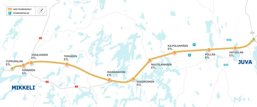 Vt 5 Mikkeli Juva Kartta Suunnitteluosuus Nuutilanmaki Veh Flickr
