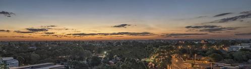 parramatta west sunset bluehour sydney australia nsw newsouthwales panorama