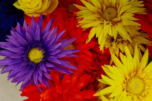 fake flowers...   by pepperberryfarm