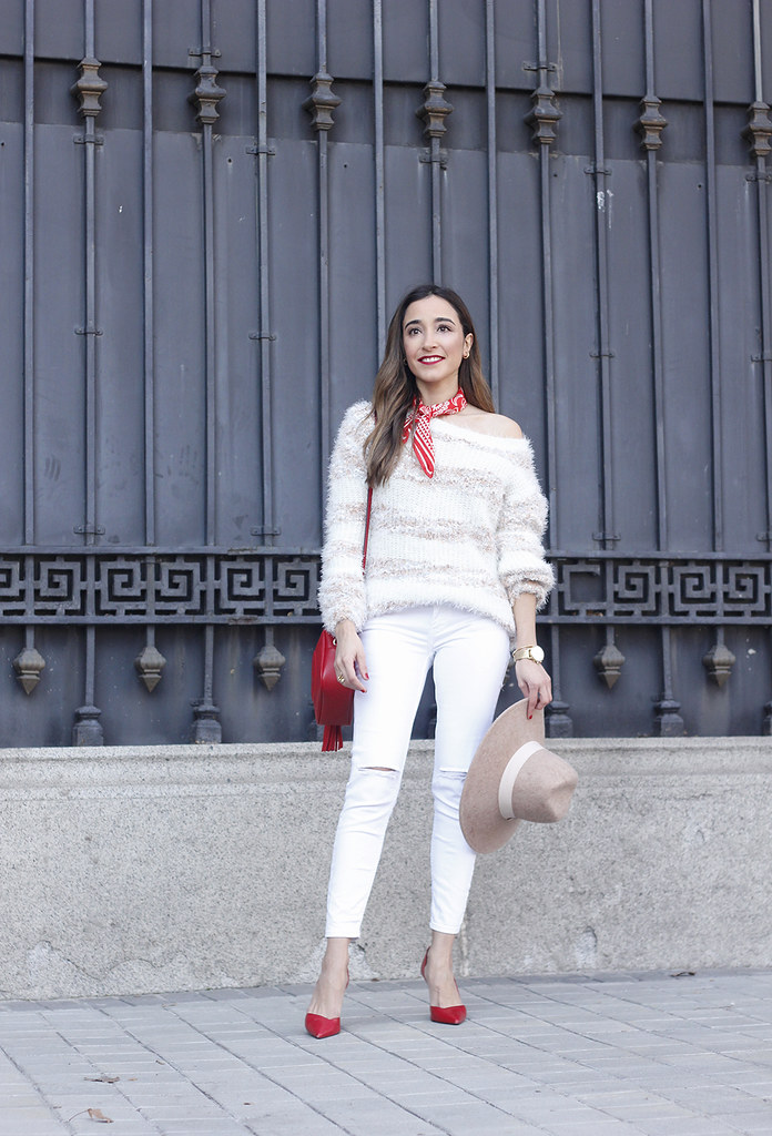 9d4b0fe68ee8 ... white outfit touch of red gucci bag primark hat winter outfit 201804 |  by BeSugarandSpice