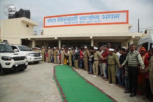 Loving farewell from Satsnag Bhawan Guna