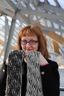 East London Knit's Brioche Twister Scarf   by English Girl at Home