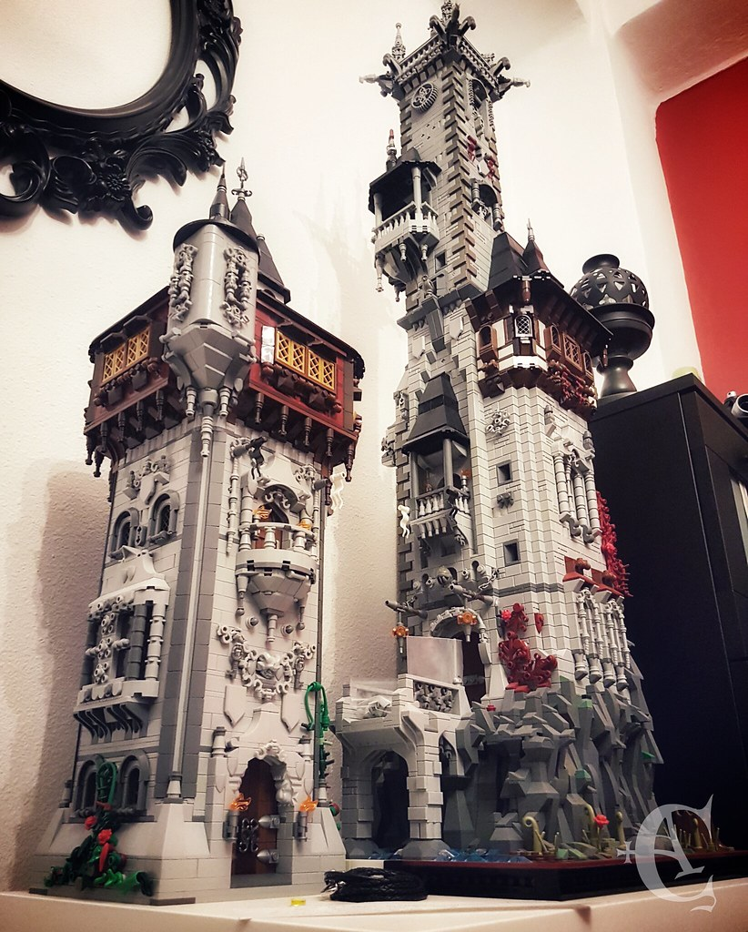 Unfinished towers:Left - Tower of the SatyrRight - Tower of the Raven