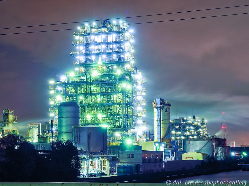 昭和電工 工場夜景 Olympus Digital Camera Dai Dai Flickr