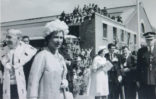 Grandad & H.M. Queen Elizabeth 2nd. Dalkeith Bus Station June 1961.