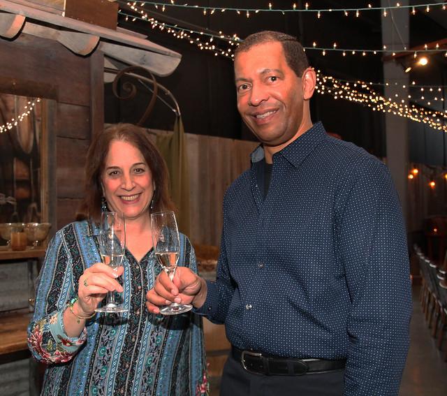 Gina Cuclis and Lloyd Davis