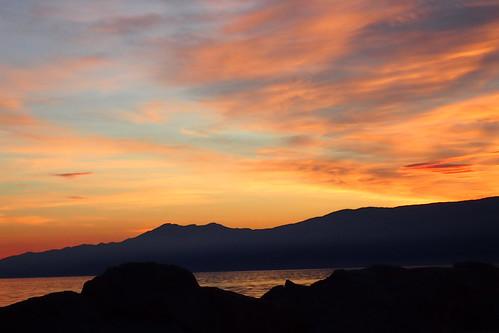 mer adriatique rijeka soir couleurs eau