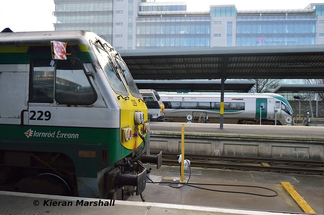 229, 231 and 22038 at Heuston, 26/1/18