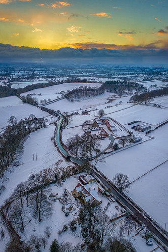 sunset yorkshire uk farm