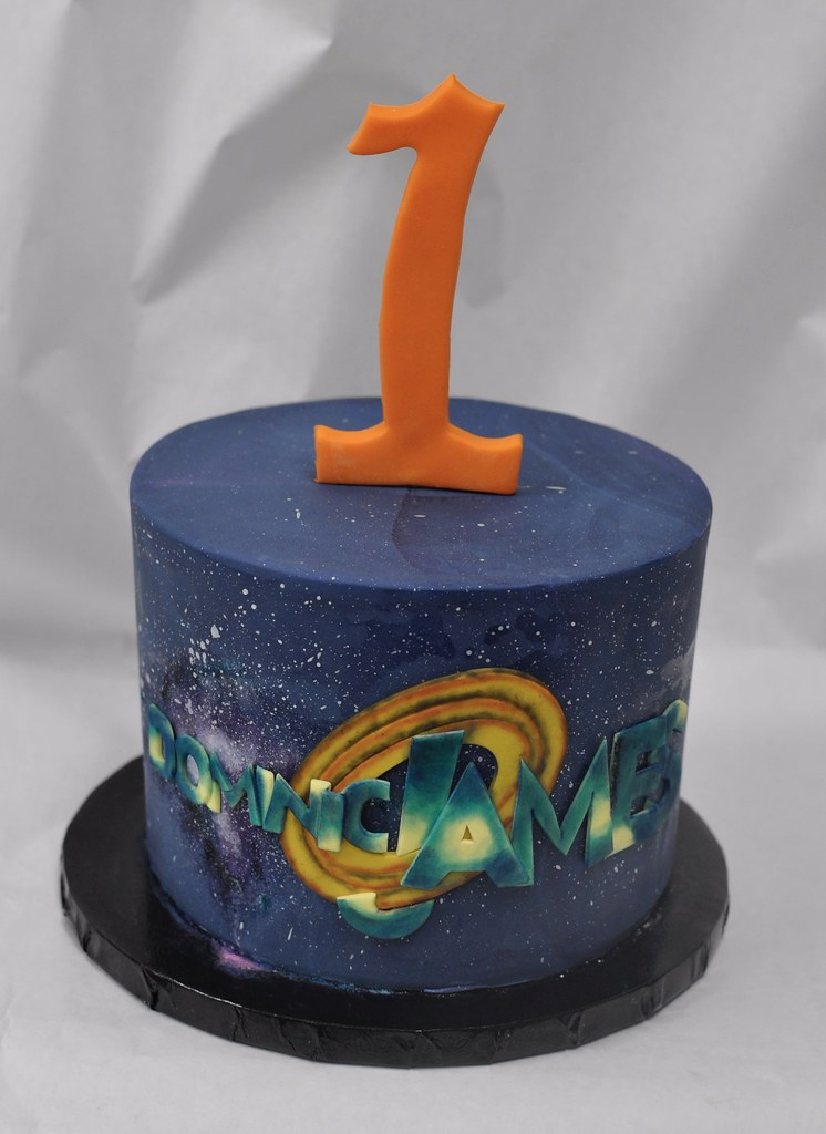 Peachy Space Jam Themed Birthday Cake Jenny Wenny Flickr Funny Birthday Cards Online Inifofree Goldxyz