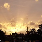 Parsons Green - Sunset over Station