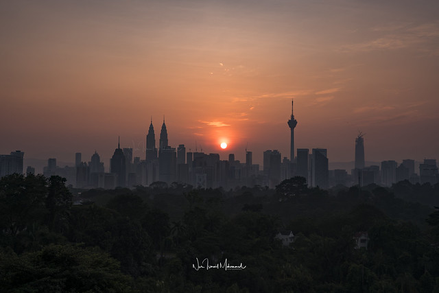 Sunrise in Kuala Lumpur, February 2018