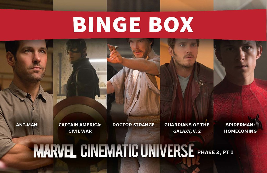 Marven Cinematic Universe, Phase 3, Pt 1 Bingebox | Cranston… | Flickr