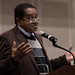 2/1/18 - 7:17 AM - Black Panther Co-founder Bobby Seale at the Riggs Alumni Center on February 1st 2018. Seale came to talk about civil rights and activism. (Richard Moglen/The Diamondback)