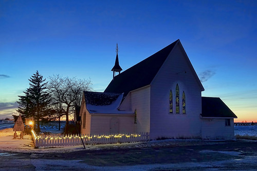 church night winter cold sunset bluehour