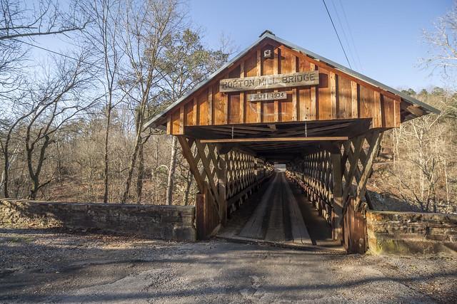 Horton Mill covered bridge, Blount County, Alabama 3