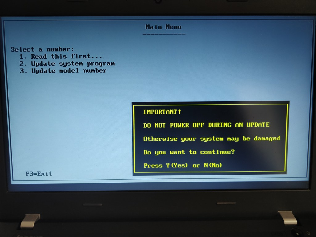 UEFI BIOS update Lenovo Thinkpad E450-en | HUP hu | Flickr