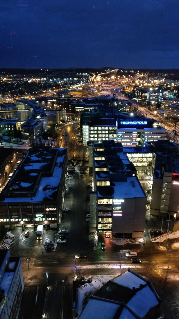 The view from the Moro Sky Bar (25th floor) - Picture of Solo Sokos Hotel Torni Tampere, Tampere
