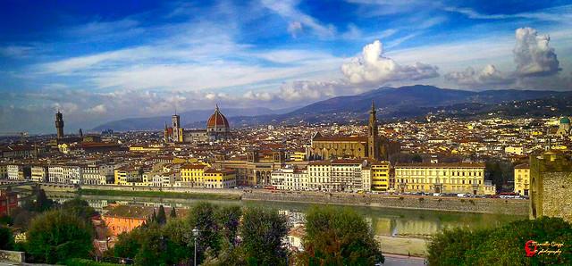 Firenze  (panorama seen from Michelangelo hill. )