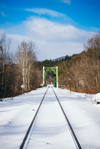bridge train traintracks landscape winter snow cold weather contrast nikon d610 nikkor 70200f4vr montpelier berlin vermont vt unitedstatesofamerica usa america railroad fav10 fav25
