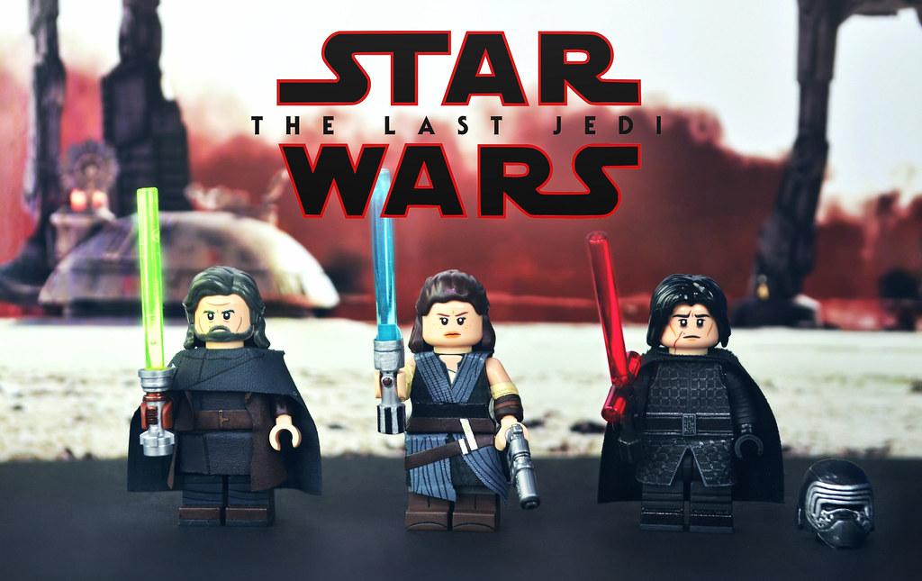 Lego Star Wars The Last Jedi Rey Kylo Ren Luke Sky Flickr